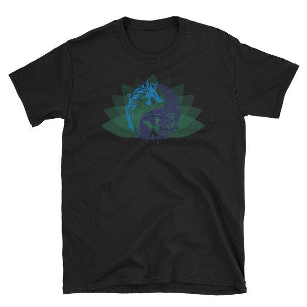 Ying Yang Dragon Short-Sleeve Unisex T-Shirt